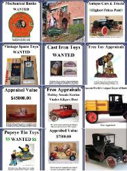 buying antique toys, buying buddy l trucks, buying vintage toy  Free toy appraisal Buddy L museum offering free expert toy appraisals