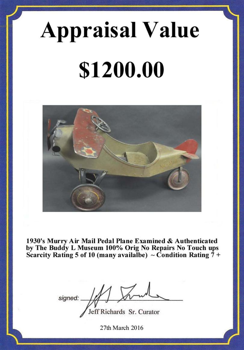 buddy l trucks price guide, buddy l airplane values, keystone steam shove identification, sturditoy trucks Buddy L Museum Free Antique Toy Appraisals